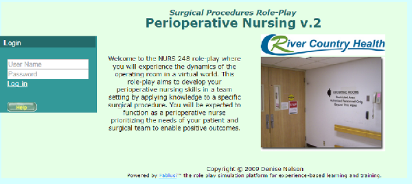 Perioperative Nursing: Surgical Procedures Role-Play